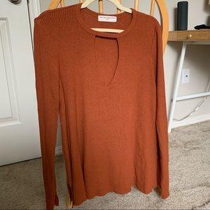 Burnt orange long sleeve top